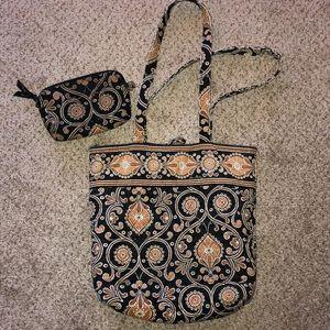 Vera Bradley Paisley Bag + pouch